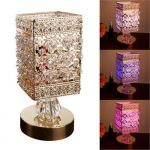 Gold Metal Sculpture Rectangle Shape LED Oil Warme
