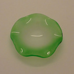 A-D4FG (GREEN) SMALL GLASS FROSTED WAVY DISH