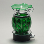 Round Green Fractal Plug-in Oil Warmer