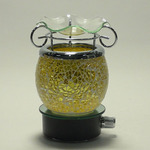 Yellow Crackle Glass Plug-in Oil Warmer