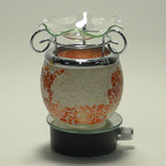 Rust Crackle Glass Plug-in Oil Warmer