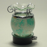 Light Green Crackle Glass Plug-in Oil Warmer