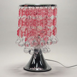 Touch Lamp With Pink Hanging Snowflakes