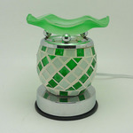 Crackle Glass Electric Touch Oil Warmer