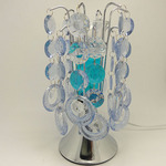 Light Blue Crystal Touch Oil Warmer